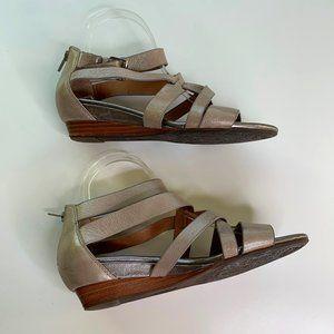 Sofft Strappy Gladiator Low Heel Sandal Zip Buckle